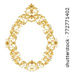golden mirror frame with... | Shutterstock .eps vector #772771402