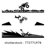 exhibiting adrenaline sports.... | Shutterstock .eps vector #772771978