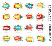 big set of colorful abstract... | Shutterstock .eps vector #772772578