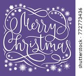 merry christmas card template... | Shutterstock .eps vector #772773436