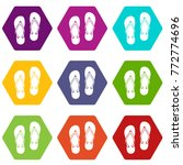 slates icon set many color...   Shutterstock .eps vector #772774696