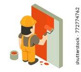 builder painter icon isometric