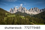 val di funes  dolomites  italy | Shutterstock . vector #772775485