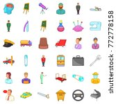 manager icons set. cartoon... | Shutterstock .eps vector #772778158