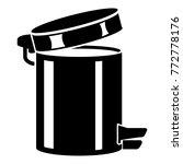trash bin icon. simple... | Shutterstock .eps vector #772778176