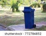 a bin in the garden   Shutterstock . vector #772786852