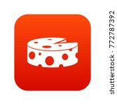 cheese wheel icon digital red... | Shutterstock .eps vector #772787392
