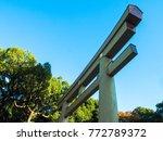 japanese shrine door | Shutterstock . vector #772789372