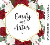 wedding invite  invitation ... | Shutterstock .eps vector #772795312