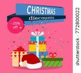 christmas sale banner...   Shutterstock .eps vector #772800022