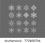 snow flakes  snow background.... | Shutterstock .eps vector #772800706