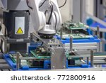 industry 4.0 robot concept .the ... | Shutterstock . vector #772800916
