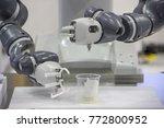 industry 4.0 robot concept .the ... | Shutterstock . vector #772800952