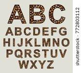 creative alphabet out of... | Shutterstock .eps vector #772803112