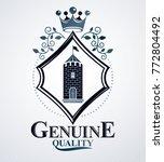 classy emblem  vector heraldic... | Shutterstock .eps vector #772804492