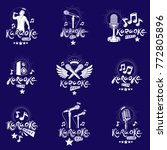 set of vector emblems and... | Shutterstock .eps vector #772805896