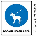 dog on leash area icon. dogs... | Shutterstock .eps vector #772807372