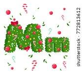 vector alphabet in christmas... | Shutterstock .eps vector #772813612