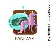 fantasy cinema genre  symbol... | Shutterstock .eps vector #772824292
