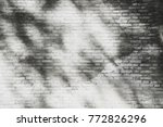 the shadow of tree on the white ... | Shutterstock . vector #772826296