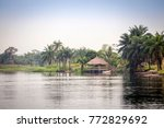 tropical river volta in ghana ... | Shutterstock . vector #772829692