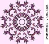 flower mandala pink vector...   Shutterstock .eps vector #772834306