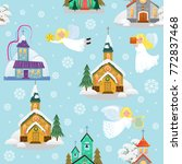 merry christmas and happy new... | Shutterstock .eps vector #772837468