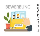 bewerbung concept illustration. ... | Shutterstock .eps vector #772840252