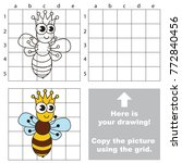 copy the picture using grid... | Shutterstock .eps vector #772840456