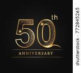anniversary  50 years... | Shutterstock .eps vector #772845265
