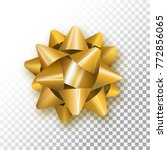 gold bow for packing gifts.... | Shutterstock .eps vector #772856065