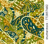 tracery seamless pattern.... | Shutterstock .eps vector #772857682