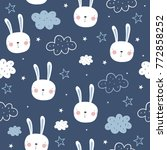 cute seamless pattern for baby... | Shutterstock .eps vector #772858252