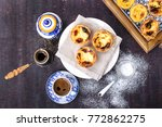 traditional portugese pastry... | Shutterstock . vector #772862275