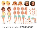 teenager girl character... | Shutterstock .eps vector #772864588