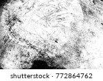 grunge scratched metal texture .... | Shutterstock . vector #772864762