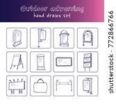 hand drawn doodle outdoor... | Shutterstock .eps vector #772866766