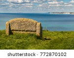 stone bench at the south west... | Shutterstock . vector #772870102