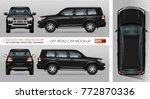 off road truck vector mock up... | Shutterstock .eps vector #772870336