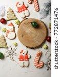 set of gingerbread cookies on...   Shutterstock . vector #772871476