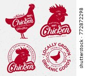 set of chicken logos  labels ... | Shutterstock .eps vector #772872298