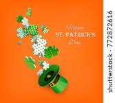 st. patrick's day. traditional... | Shutterstock .eps vector #772872616