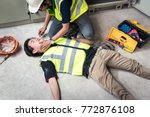 check response and pulse  life...   Shutterstock . vector #772876108