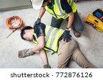 check response  life saving and ... | Shutterstock . vector #772876126