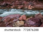 river and natural. | Shutterstock . vector #772876288