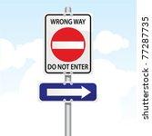 traffic sign | Shutterstock .eps vector #77287735
