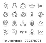 simple collection of career... | Shutterstock .eps vector #772878775