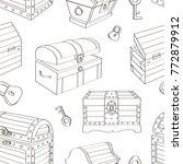 set of chest pattern | Shutterstock .eps vector #772879912