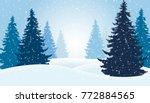 vector illustration of winter...