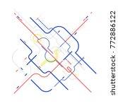 digital geometric data network  ... | Shutterstock .eps vector #772886122